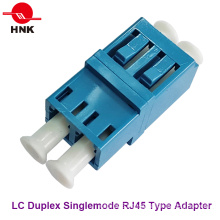 LC Duplex RJ45 Type Singlemode Fiber Optic Adapter